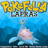 ultra square shiny Lapras • Competitive • 6IVs • Level 100 • Online Battle-ready