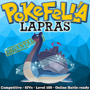 ultra square shiny Gigantamax Lapras • Competitive • 6IVs • Level 100 • Online Battle-ready