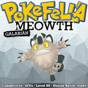 ultra square shiny Galarian Meowth • Competitive • 6IVs • Level 99 • Online Battle-ready