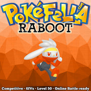 ultra square shiny Raboot • Competitive • 6IVs • Level 50 • Online Battle-ready