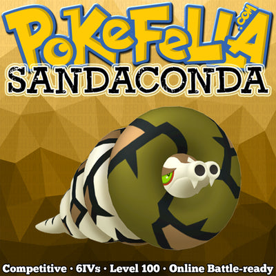ultra square shiny Sandaconda • Competitive • 6IVs • Level 100 • Online Battle-ready