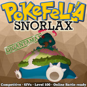 ultra square shiny Gigantamax Snorlax • Competitive • 6IVs • Level 100 • Online Battle-ready