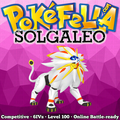ultra square shiny Solgaleo • Competitive • 6IVs • Level 100 • Online Battle-ready