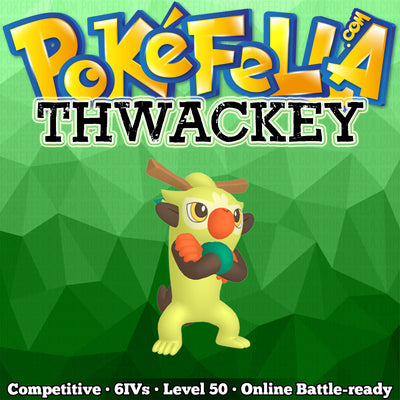 ultra square shiny Thwackey • Competitive • 6IVs • Level 50 • Online Battle-ready