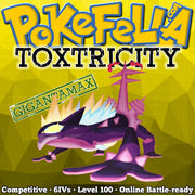 ultra square shiny Gigantamax Toxtricity (Amped & Low Key) • Competitive • 6IVs • Level 100 • Online Battle-ready