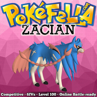 ultra square shiny Zacian • Competitive • 6IVs • Level 100 • Online Battle-ready Crowned Sword Behemoth Blade Rusted Sword Intrepid Sword