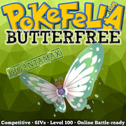 ultra square shiny Gigantamax Butterfree • Competitive • 6IVs • Level 100 • Online Battle-ready