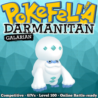 ultra square shiny Galarian Darmanitan (Standard & Zen Mode) • Competitive • 6IVs • Level 100 • Online Battle-ready