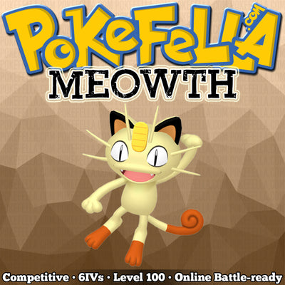 ultra square shiny Meowth • Competitive • 6IVs • Level 100 • Online Battle-ready