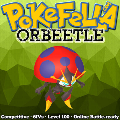 ultra square shiny Orbeetle • Competitive • 6IVs • Level 100 • Online Battle-ready