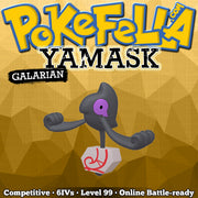 ultra square shiny Galarian Yamask • Competitive • 6IVs • Level 99 • Online Battle-ready