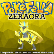 square shiny Zeraora • Competitive • 6IVs • Level 100 • Online Battle-ready OT HOME Fula City Eolipoli Mistral フウラシティ