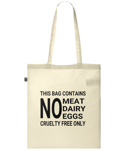 Cruelty Free Shopping Bag, Organic Cotton