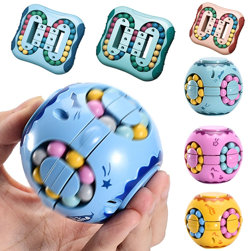 Rotating Magic Bean Intelligence Fingertip Cube Children's Finger Gyro