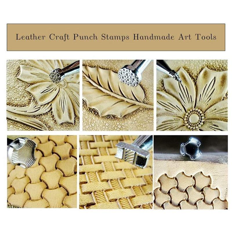 Leather Craft Stamps - 6 PCS