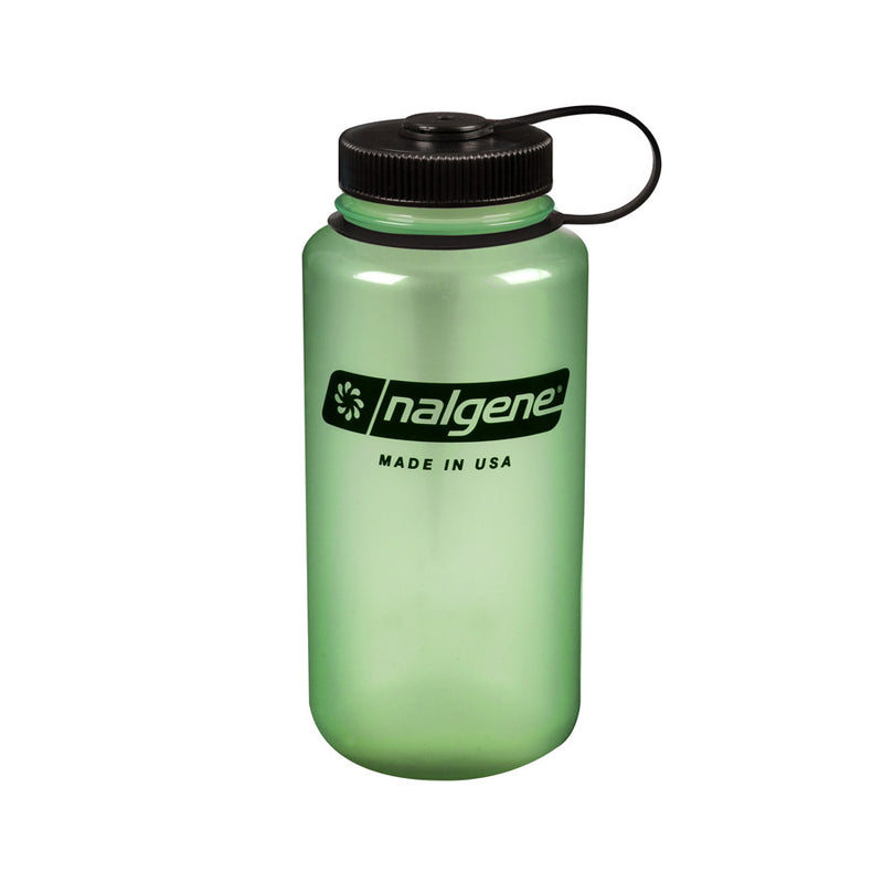 Nalgene 1L Wide Mouth Water Bottle, Glow In The Dark