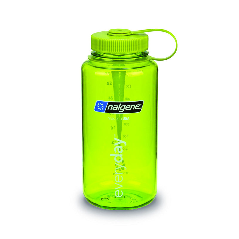Nalgene 1L Wide Mouth Water Bottle, Green