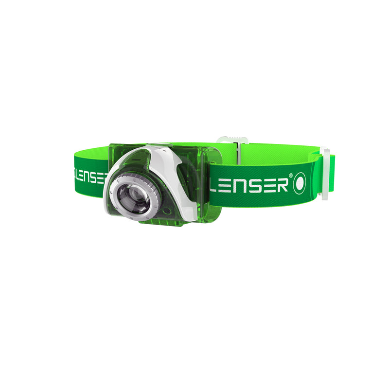 LED Lenser SEO3 Green Headlamp