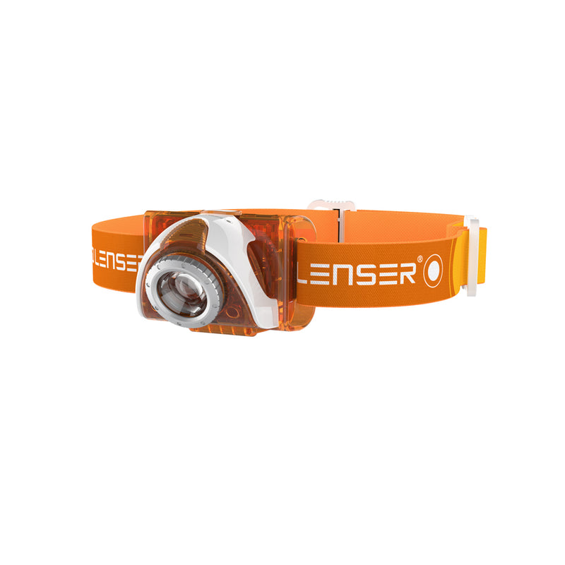 LED Lenser SEO3 Orange Headlamp