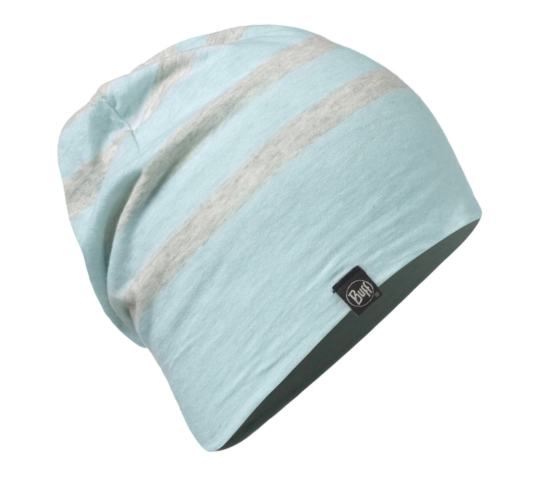BUFF® Cotton Hat, Aqua Stripes