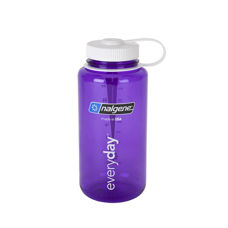 Nalgene 1L Wide Mouth Water Bottle, Purple