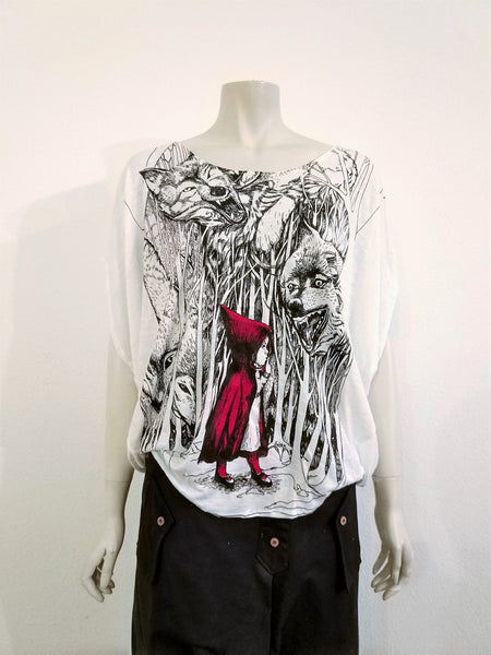 Red Riding Hood  Loose Top - Nili`s