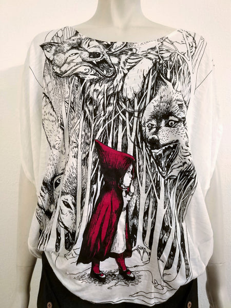 Red Riding Hood  Loose Top
