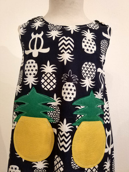 Kids Dress Pineapple - Nili`s