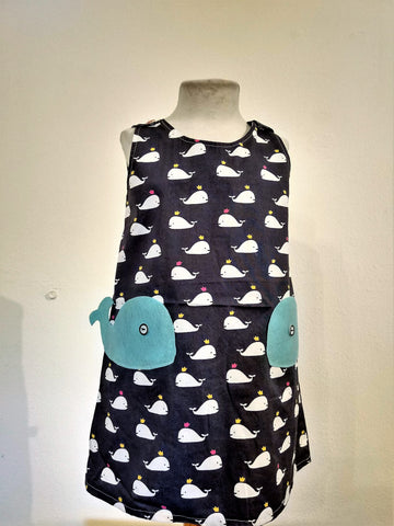 Kids Dress Whale - Nili`s