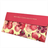 Red Floral Cash Envelopes - Set of 50