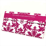 White & Pink Motif Cash Envelopes - Set of 50