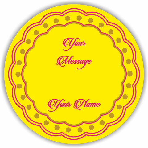 Traditional Yellow Gift Labels - Set of 50