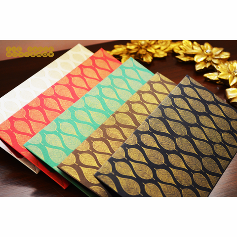 The Mughal Leaf Cash Envelopes - Set of 50