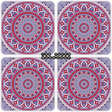Traditional Boho Coasters - Set of 4