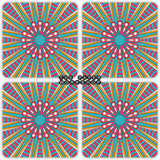 Blue Boho Coasters - Set of 4