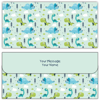 Little Dino Cash Envelopes - Set of 50