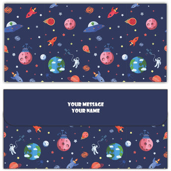 Space Cash Envelopes - Set of 50