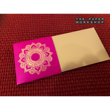 Gold Motif Envelopes - Pack of 5 Non-Personalised Envelopes (Rani Pink)