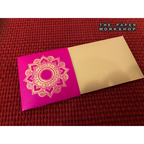Gold Motif Envelopes - Set of 50 (Rani Pink)