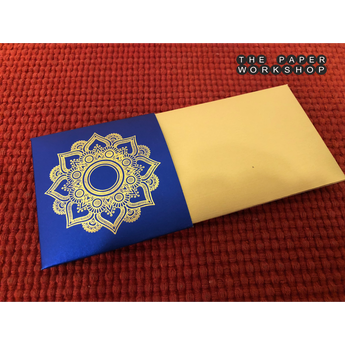Gold Motif Envelopes - Set of 50 (Blue)