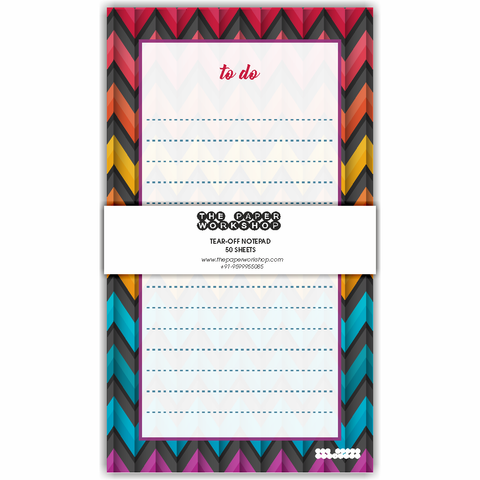 Zig-Zag To Do List Tear-Off Notepad