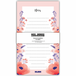 Pink Floral Tear-Off Notepad