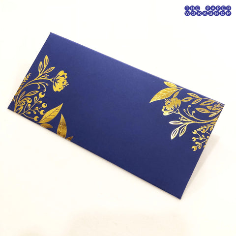Gold Foil Printed Cash Envelopes - Set of 50