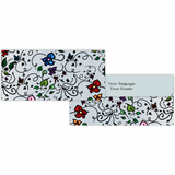 Blue Leaf Pattern Cash Envelopes - Set of 50