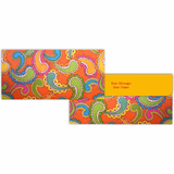 Orange Paisley Cash Envelopes - Set of 50