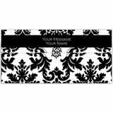White & Black Motif Cash Envelopes - Set of 50