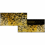 Gold Retro Cash Envelopes - Set of 50