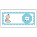 Baby Boy Birth Announcement Cash Envelopes - Set of 50
