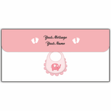 Baby Girl Birth Announcement Cash Envelopes - Set of 50