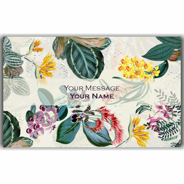 Vintage Floral Gift Tags - Set of 100